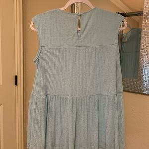 Juicy Couture Tops - NEW BABY BLUE JUICY COUTURE SHEER LAYERED TOP
